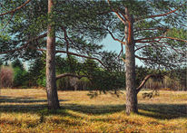 Ölmalerei, Grün, Ölfarben, Landschaft