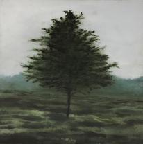 Landschaft, Ölmalerei, Malerei, Baum