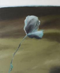 Blumen, Blüte, Mohn, Ölmalerei