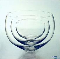 Glas, Stillleben, Realismus, Ölmalerei
