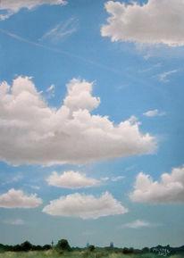 Wolken, Realismus, Landschaft, Ölmalerei