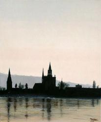 Konstanz, Malerei, Bodensee, Stadt