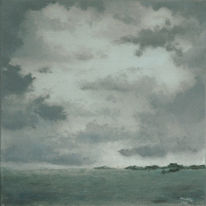 Himmel, Landschaft, Meer, Malerei