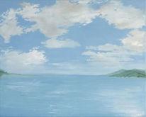 Ölmalerei, Skizze, Wasser, Realismus