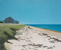 Blau, Realismus, Haus, Küste