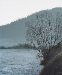 Realismus, Baum, Malerei, Ölmalerei