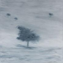 Malerei, Ölmalerei, Baum, Landschaft