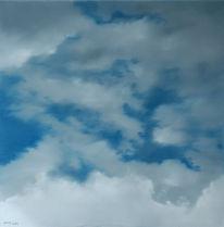 Malerei, Ölmalerei, Wolken, Landschaft