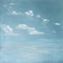 Himmel, Ölmalerei, Skizze, Malerei
