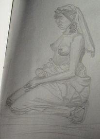 Mädchen, Afrika, Körper, Frau