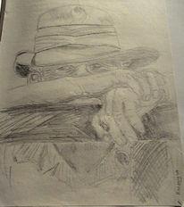 Zigarette, Hut, Mann, Zeichnungen