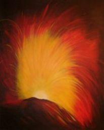 Abstrakt, Feuer, Malerei, Licht