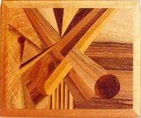 Holz, Intarsienbilder, Kunsthandwerk, Komposition
