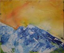 Abstrakt, Alpen, Malerei, Berge