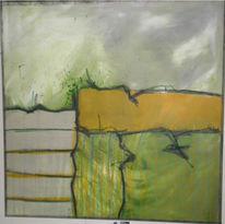 Abstrakt, Aufstieg, Malerei, Leiter