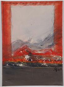 Berge, Malerei, Malen, Abstrakt