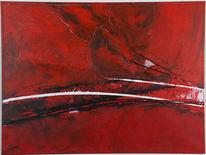 Rot, Abstrakt, Malerei, Gefühl