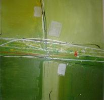 Grün, Herbst, Abstrakt, Malerei