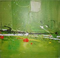 Malerei, Grün, Abstrakt, Drache