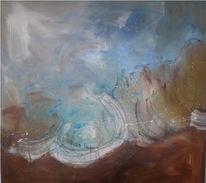 Malerei, Wolken, Hellblau, Abstrakt