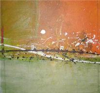 Farben, Herbst, Abstrakt, Malerei