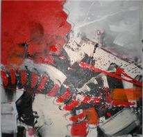 Weiß, Rot schwarz, Abstrakt, Kette