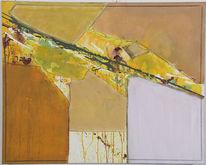 Landschaft, Malerei, Grün, Acrylmalerei