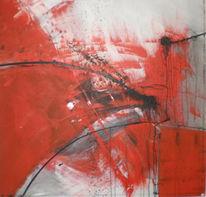Abstrakt, Malerei, Sturm, Rot