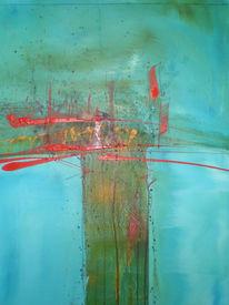 Fluss, Abstrakt, Malerei, Leben