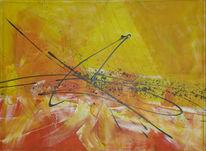 Sonne, Malerei, Sommer, Abstrakt