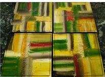 Abstrakt, Malerei, Links, Rechts