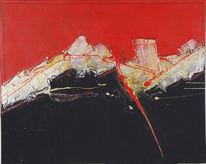 Malerei, Abstrakt, Alpen