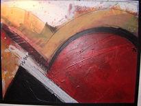 Malerei, Abstrakt, Rund