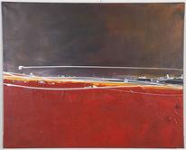 Sturm, Stadt, Acrylmalerei, Malerei