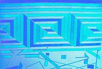 Abstrakt, Geometrie, Malerei