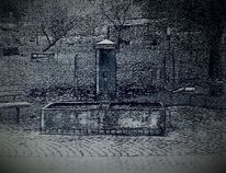 Dorf, Brunnen, Quelle, Digitale kunst