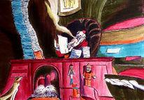 Weihnachtsmann, Malerei, Abstrakt