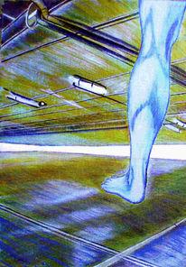 Malerei, Bein, Abstrakt, Forschung