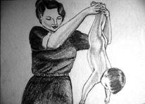 Skizze, Mutter, Zeichnung, Zeichnungen
