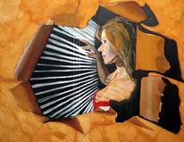 Acrylmalerei, Malerei, Figural, Beobachtung