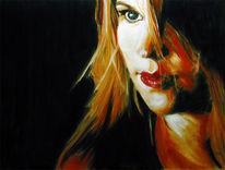 Malerei, Portrait, Figural, Pastellmalerei