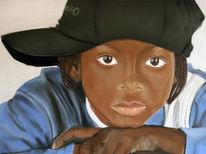 Pastellmalerei, Portrait, Figural, Kind