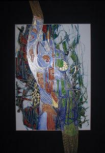Abstrakt, Körper, Malerei, Akt