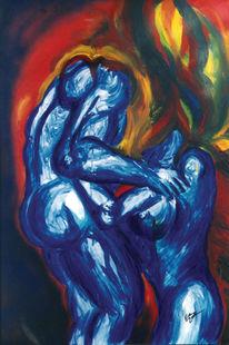 Akt, Abstrakt, Körper, Malerei