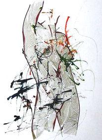 Akt, Grafik, Körper, Abstrakt