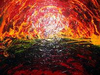 Malerei, Feuer, Napalm, Vietnam