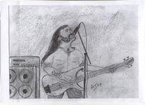 Zeichnung, Portrait, Zeichnungen, Laut