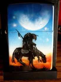 Ende, Custompainting, Trails, Zippo