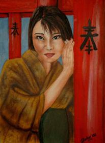 Portrait, Acrylmalerei, Malerei, Mischtechnik
