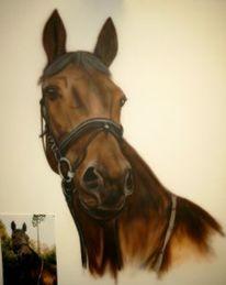 Pferde, Airbrush, Malerei, Figural